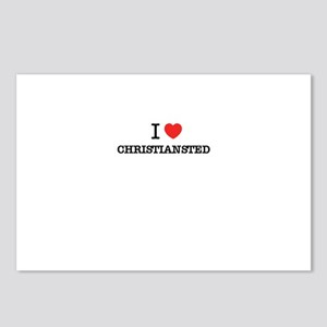 I Love CHRISTIANSTED Postcards (Package of 8)